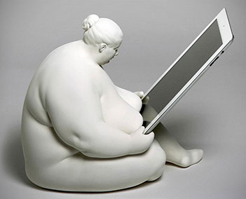 Fat Naked Lady iPad Dock