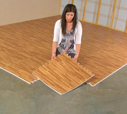 Faux Hardwood Floor Interlocking Foam Tiles Thumb Jpg