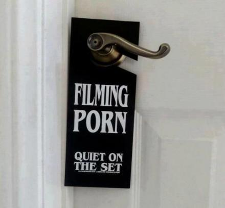 Filming Porn Quiet On The Set Door Hanger