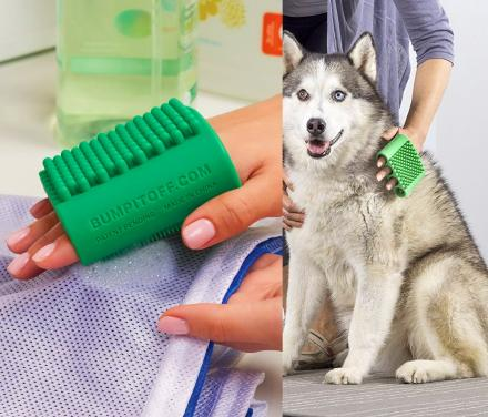 Finger-Slotted Silicone Tool for Pets, Laundry, Kitchen, and Beauty