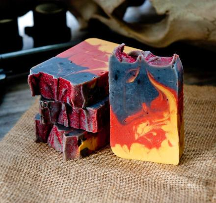 Fire In The Hole Soap Smells Like Gunpowder, Campfire, and Whiskey