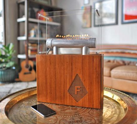 Fireside Audiobox: Bluetooth Speaker With Dancing Flames That Sync To Music