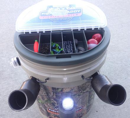 The Fishing Caddy Combines a Tackle-box, Chair, and Pole Holder