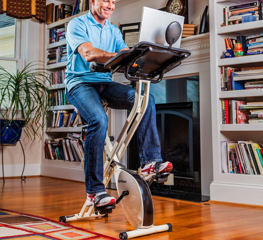 Fitdesk Is An Exercise Bike That Lets, Fit Desk Stationary Bike