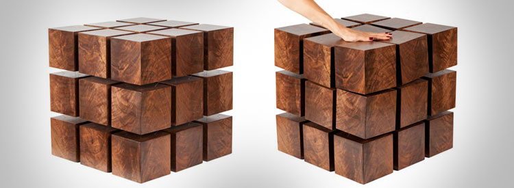 Floating Magnetic Cubes Table
