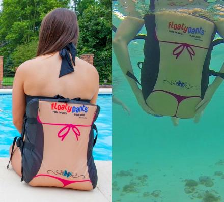 Floaty Pants: Hands Free Pool Float, Gives You a Thong