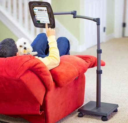 This Ultimate Floor Stand Tablet and Book Holder Lets You Watch Or Read Hands-Free