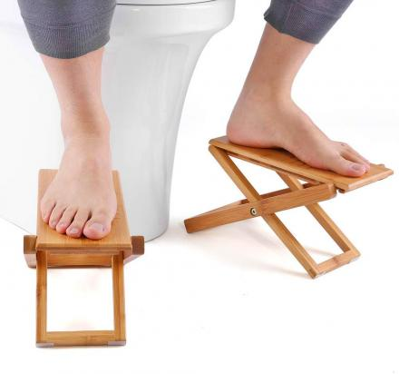 Folding Bamboo Wooden Toilet Squatting Stools