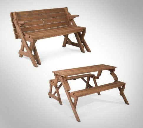 Folding Picnic Table To Bench