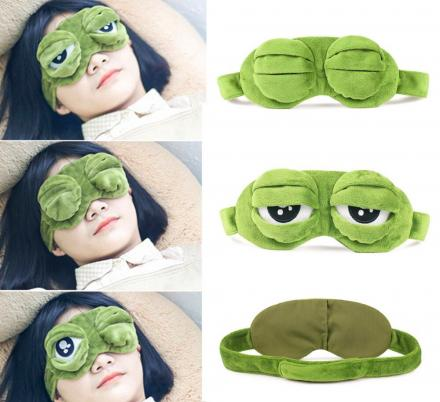 Frog Eyes Sleep Mask Lets You Open Or Close The Eyes