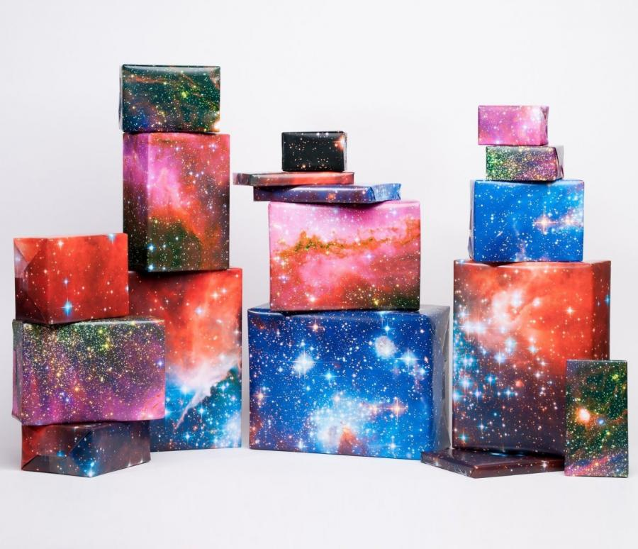 Galaxy Space Themed Wrapping Paper