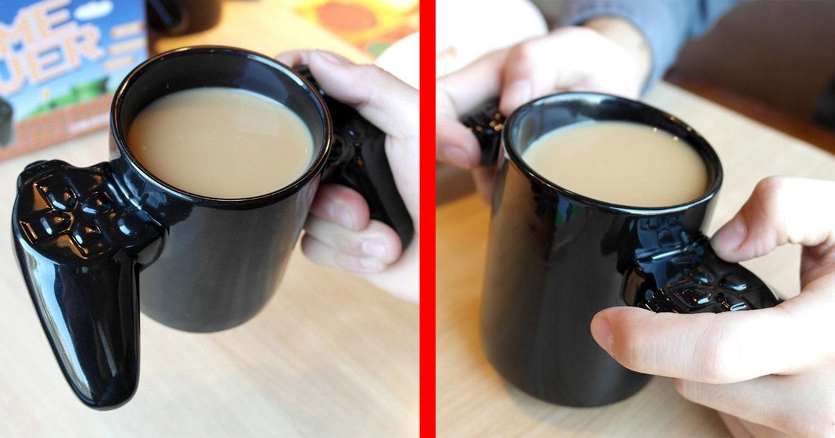 This Game Over Game Controller Coffee Mug Lets You Practice Your Gaming While Caffeinating