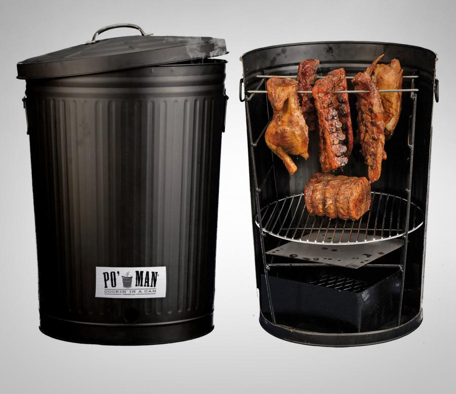 The Original Pou0027 Man Charcoal Grill Is Essentially A BBQ That Looks Just  Like A Garbage Can, And Allows To Cook Your Food Just Like A Hobo.