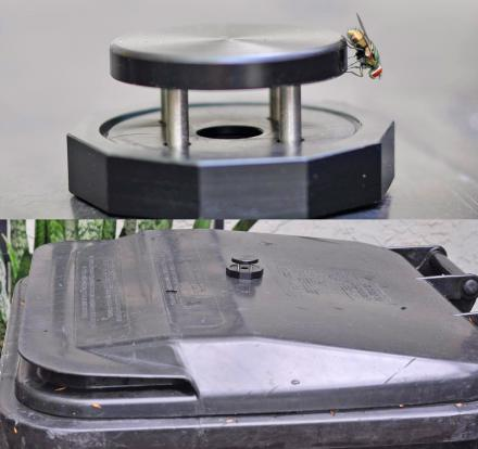 Garbage Can Fly Trap - Attaches To Any Trash Bin