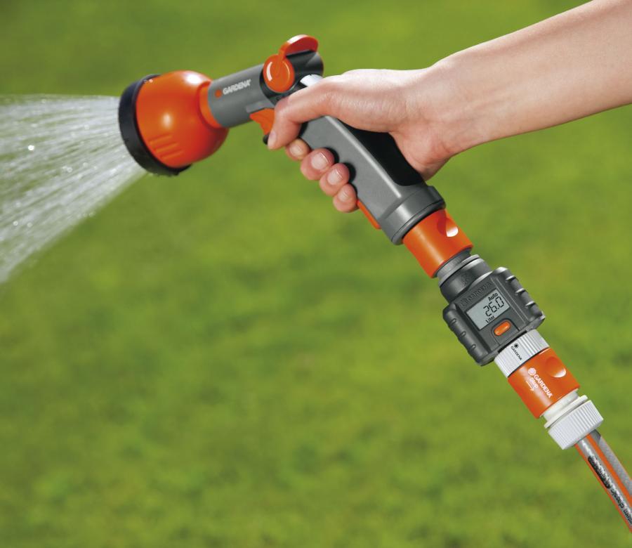 garden hose water meter tracks the amount of water you use enlarge image - Garden Hose