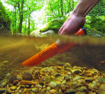 Pro-Pointer Waterproof Metal Detector Lets You Treasure Hunt in Water or Wet Soils