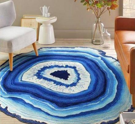 geode rock floor rug
