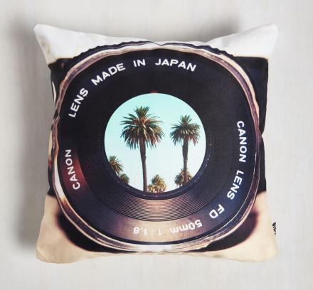 'Get Some Shutter-Eye' Camera Lens Pillow