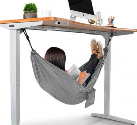 Get Your Nap On At Work With This Under-Desk Hammock