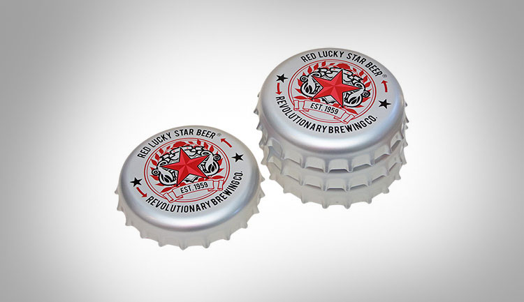 Giant Bottle Cap Coasters