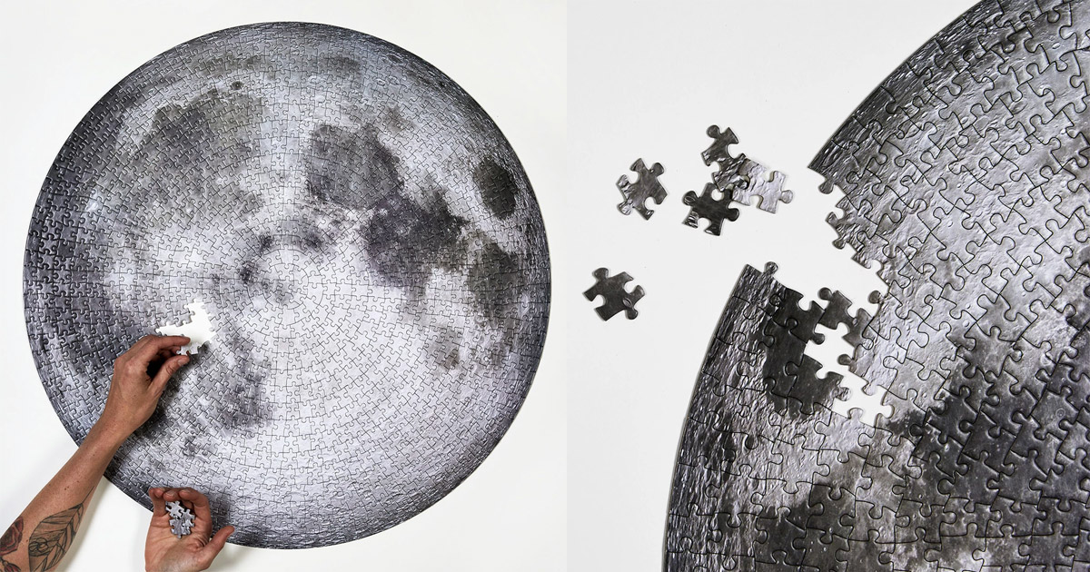 Giant Circular Moon Jigsaw Puzzle