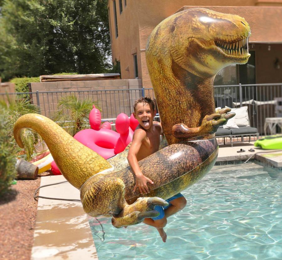 Giant Dinosaur Inflatable Pool Float