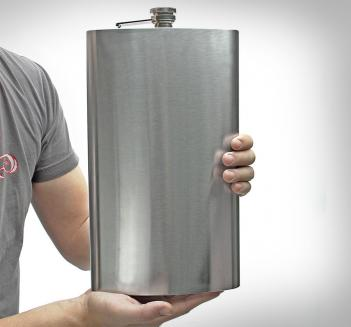 Giant Flask Holds 1 Gallon Of Booze