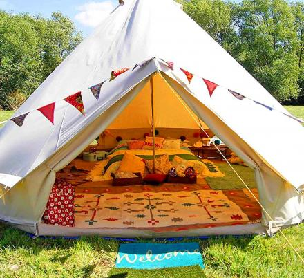 There's Now an Official Glamping Tent That's Perfect For Camping Or Music Festivals