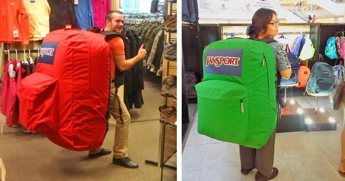 This Giant Jansport Backpack Is Perfect For Packing Just The Essentials
