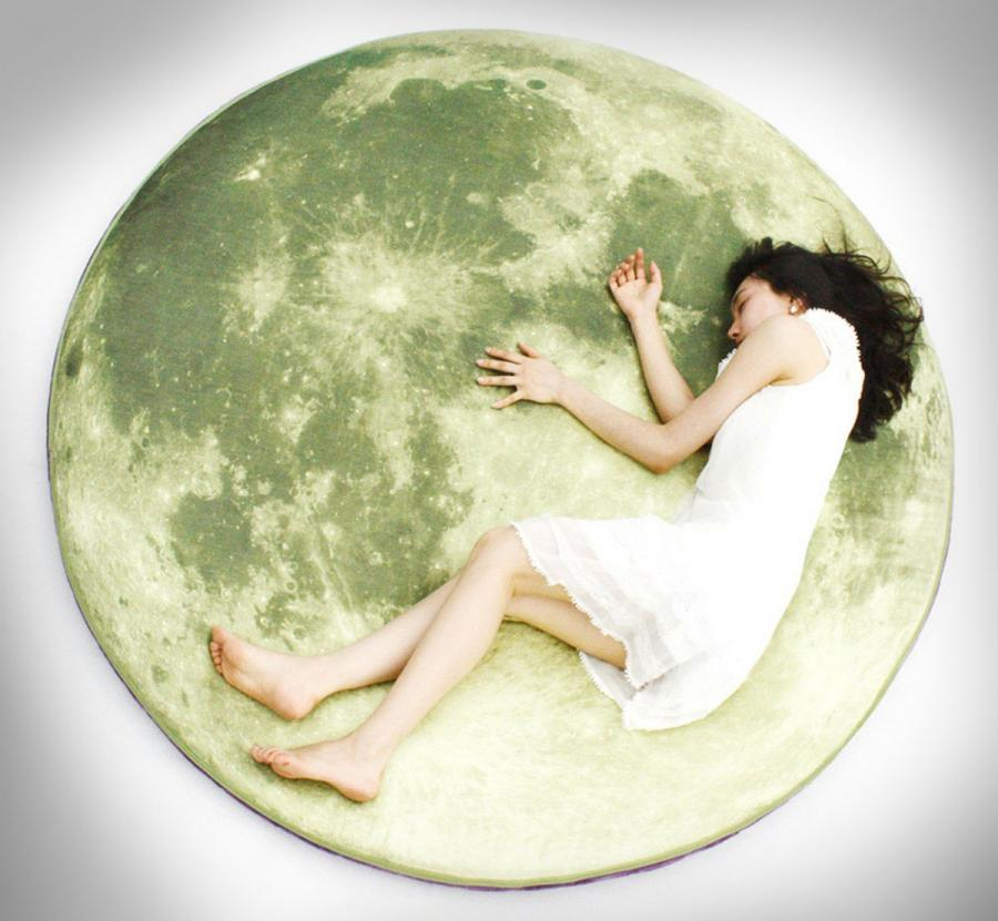 Giant Moon Floor Pillow Enlarge Image