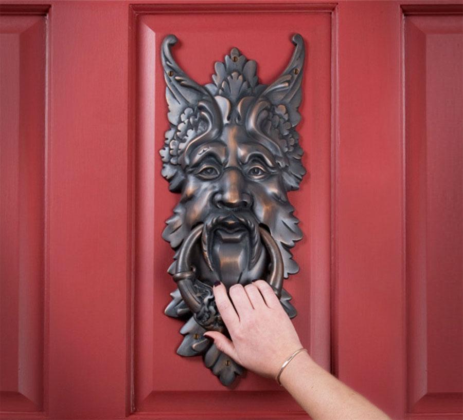 Giant Oberon Solid Brass Door Knocker