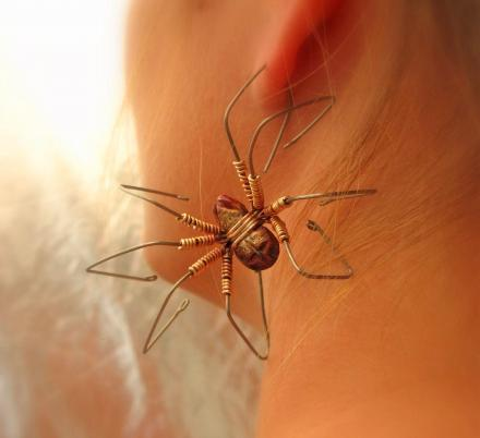 These Giant Spider Earrings Make For a Perfect Addition To Your Creepy Halloween Costume