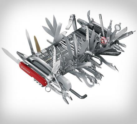 Giant Swiss Army Knife, Has 141 Different Functions