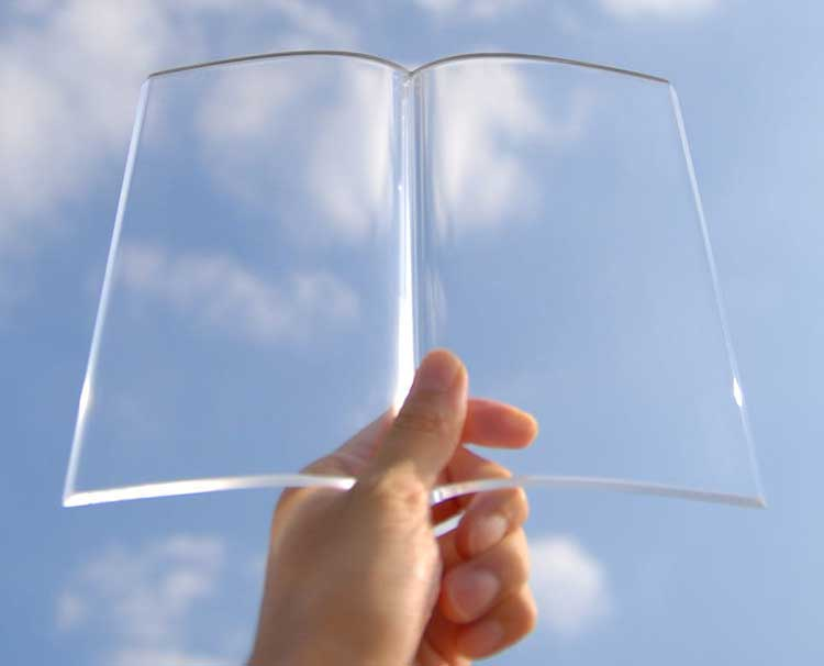 Glass Book Page Holder 3