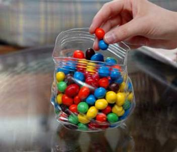 Glass Ziploc Candy Bag