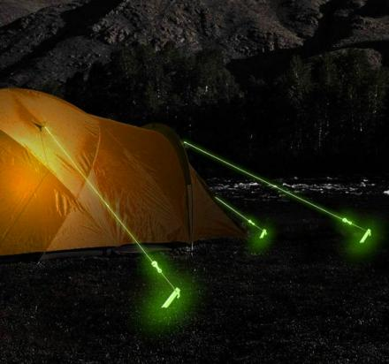 Glow In The Dark Tent Rope Prevents Tripping In The Dark
