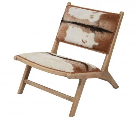 Goatskin Leather Lounger Chair
