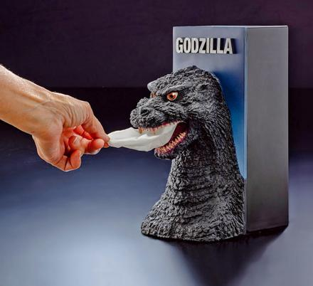 There's Now a Godzilla Tissue Dispenser That Makes The Tissue Look Like Smoke Coming From His Mouth