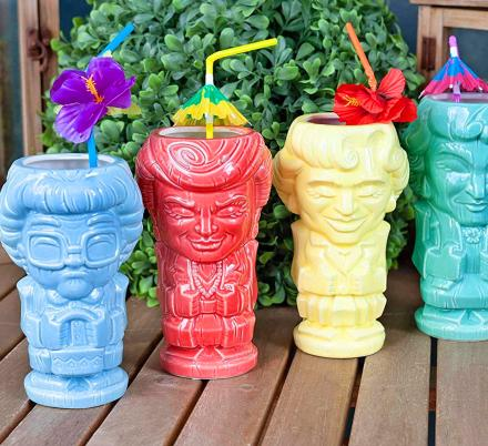 These Golden Girls Tiki Cups Are The Best Way To Binge Watch Your Favorite 80's Show