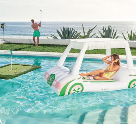 Every Golfing Lover Probably Needs One Of These Golf Cart Pool Floats