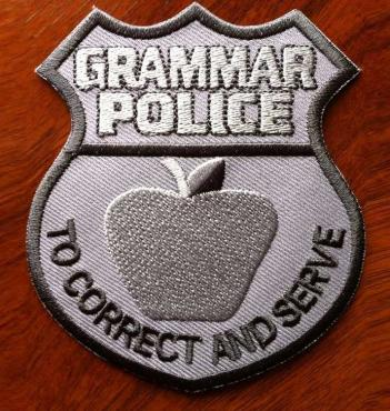 Grammar Police Badge Patch