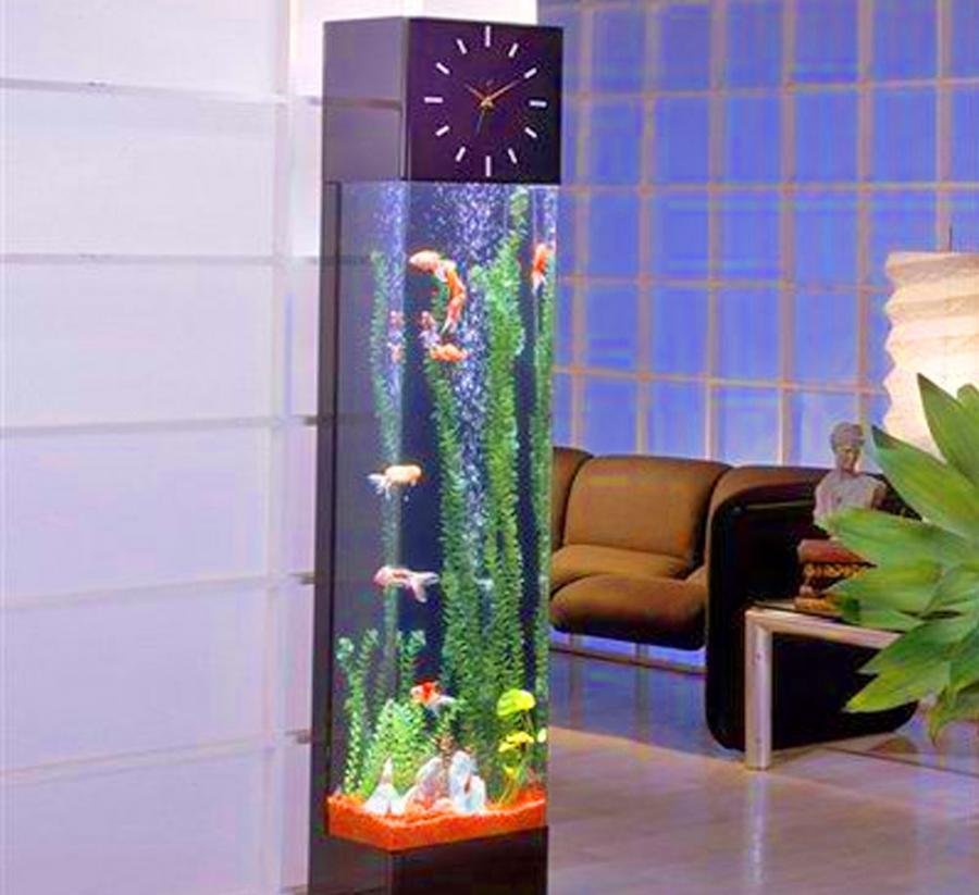 Grandfather Clock Fish Aquarium