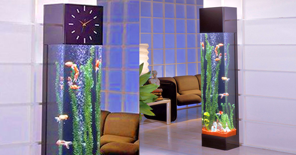Grandfather Clock Fish Aquarium