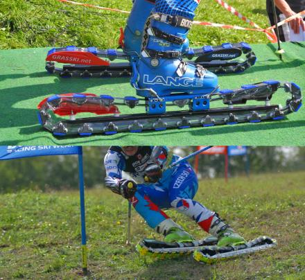 Grass Skis Let You Downhill Ski In The Summer