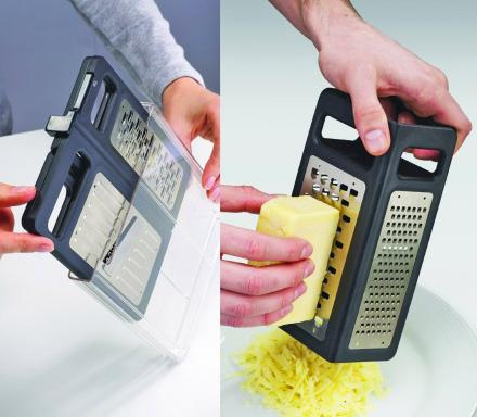 Grater/Slicer Combo Folds Flat For Easy Storage