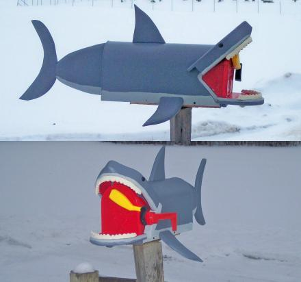 Great White Shark Mailbox