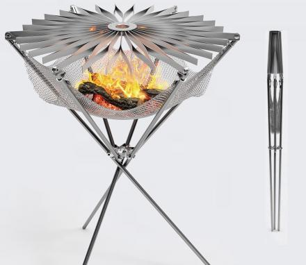 Grillo Portable: A Folding Stainless Steel Minimal Barbecue
