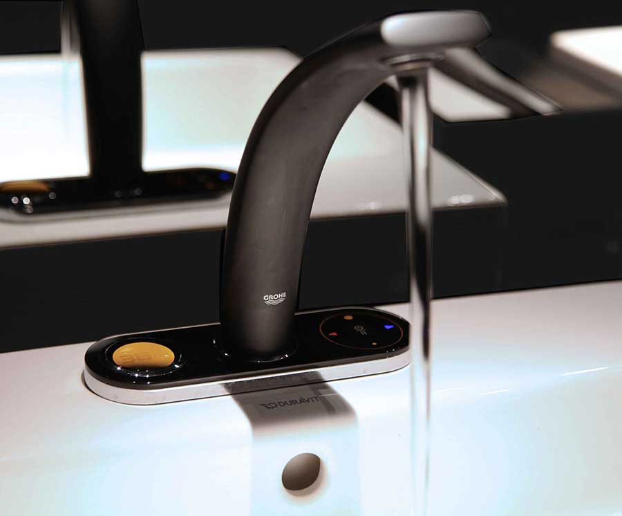 grohe digital temperature faucet. Black Bedroom Furniture Sets. Home Design Ideas
