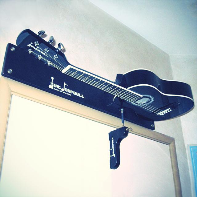 This Guitar Doorbell Strums An Actual Guitar Each Time The