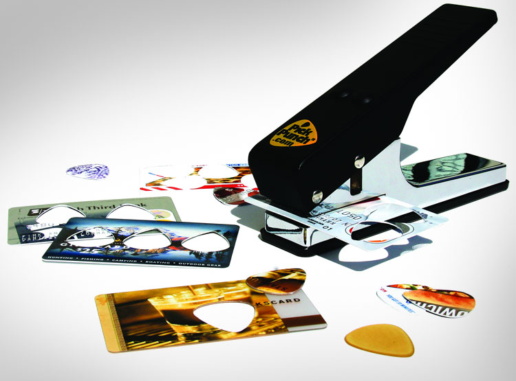 Guitar Pick Punch - Make guitar picks from old credit cards, IDs, and gift cards
